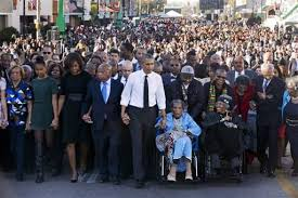 Amelia Boynton Robinson, 103, back in Selma with President Obama