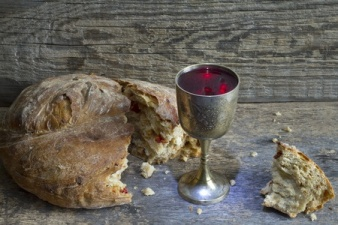 36086683 - bread and wine holy communion sign symbol